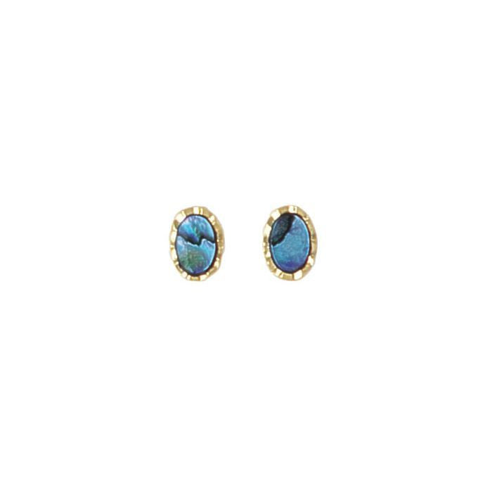Earring Paua Shell Costume – Oval