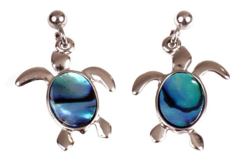 Earring Paua Shell Costume – Turtle
