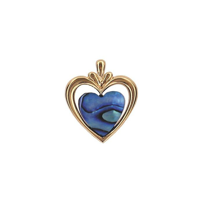 Pendant Paua Shell Costume – Heart