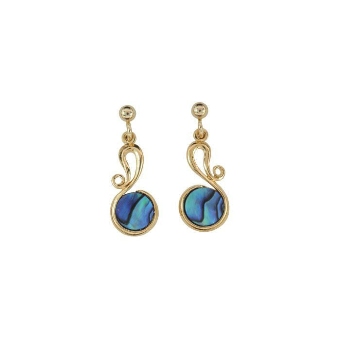 Earring Paua Shell Costume – Teardrop Swirl