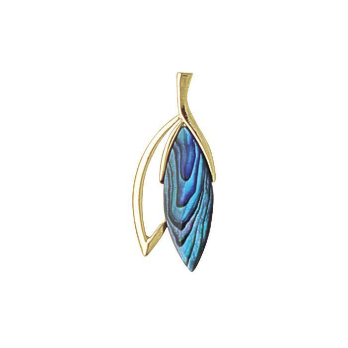 Paua Pendant Gold Plated – Laurel Leaf