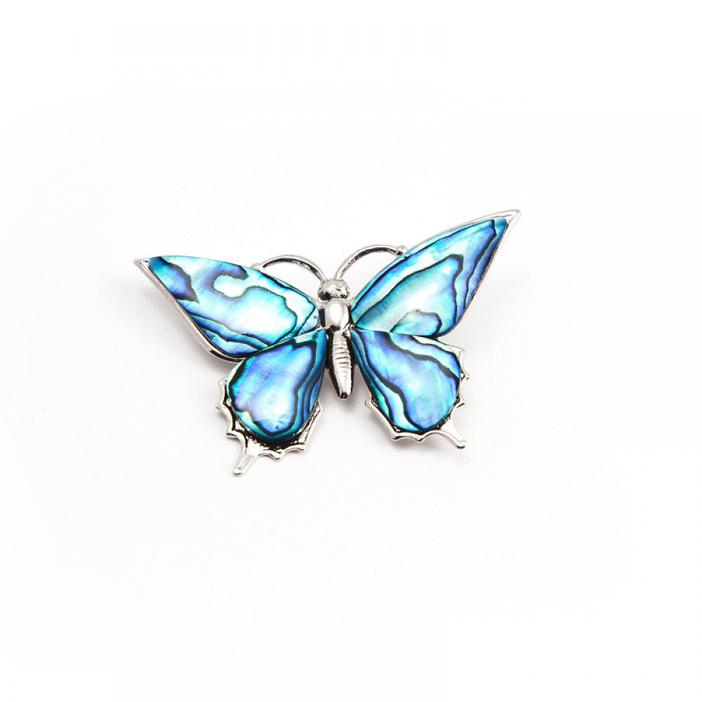 Paua Brooch Palladium Plated – Butterfly