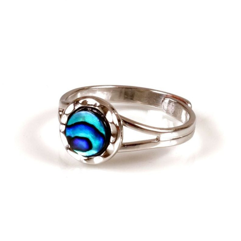 Paua Ring Palladium Plated – Circle
