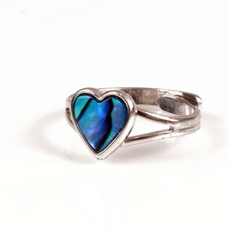 Paua Ring Palladium Plated – Heart