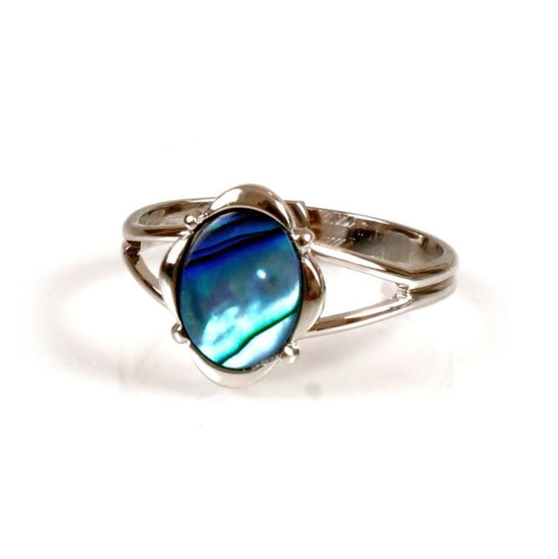 Paua Ring Palladium Plated – Oval