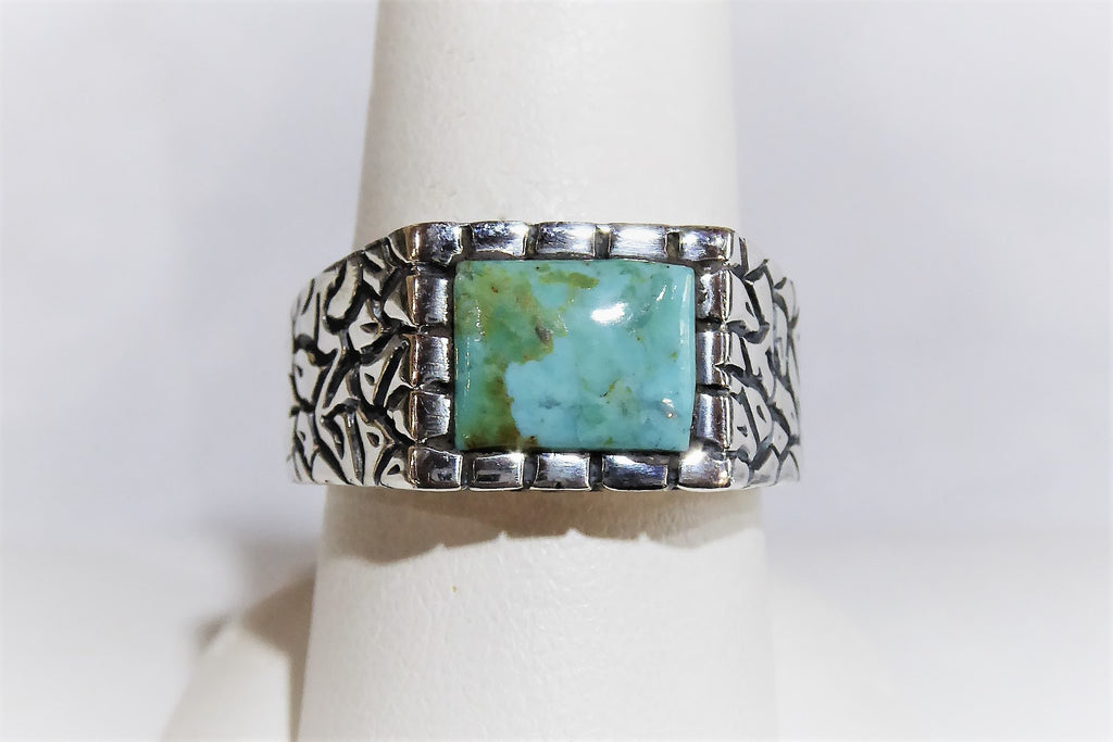 Men's Turquoise Ring, Size 10
