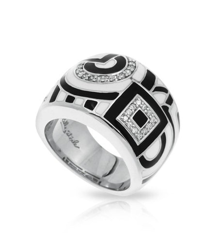GEOMETRICA BLACK & WHITE RING