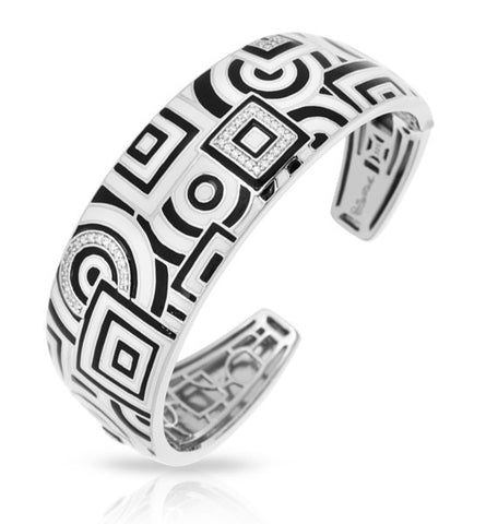 GEOMETRICA BLACK & WHITE BANGLE