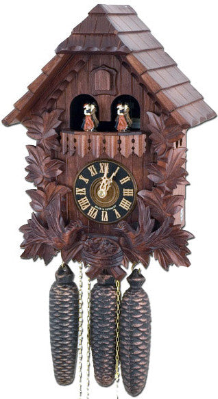 Large 8-Day Mechanical Carved Chalet with Moving Birds Musical Cuckoo Clock