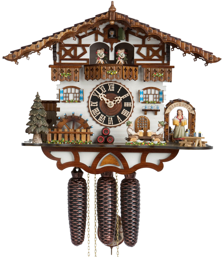 Large 8-Day Mechanical Beer Garden Chalet Musical Cuckoo Clock