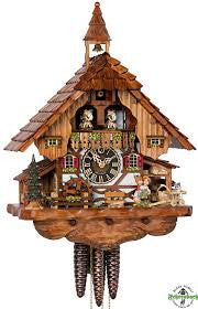 Large 1-Day Mechanical Chalet Musical Cuckoo Clock with Kissing Couple