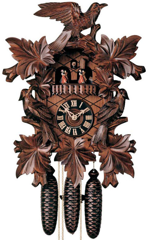 Large 8-Day Mechanical Carved Bird Musical Cuckoo Clock
