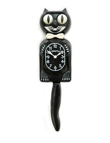 "Black ""Classic"" Kitty Cat Clock"