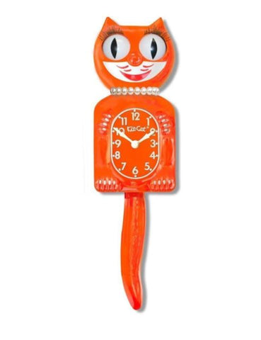Pumpkin Delight Lady Kit Cat Clock