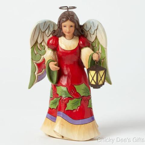 Jim Shore Pint Sized Christmas Angel With Lantern