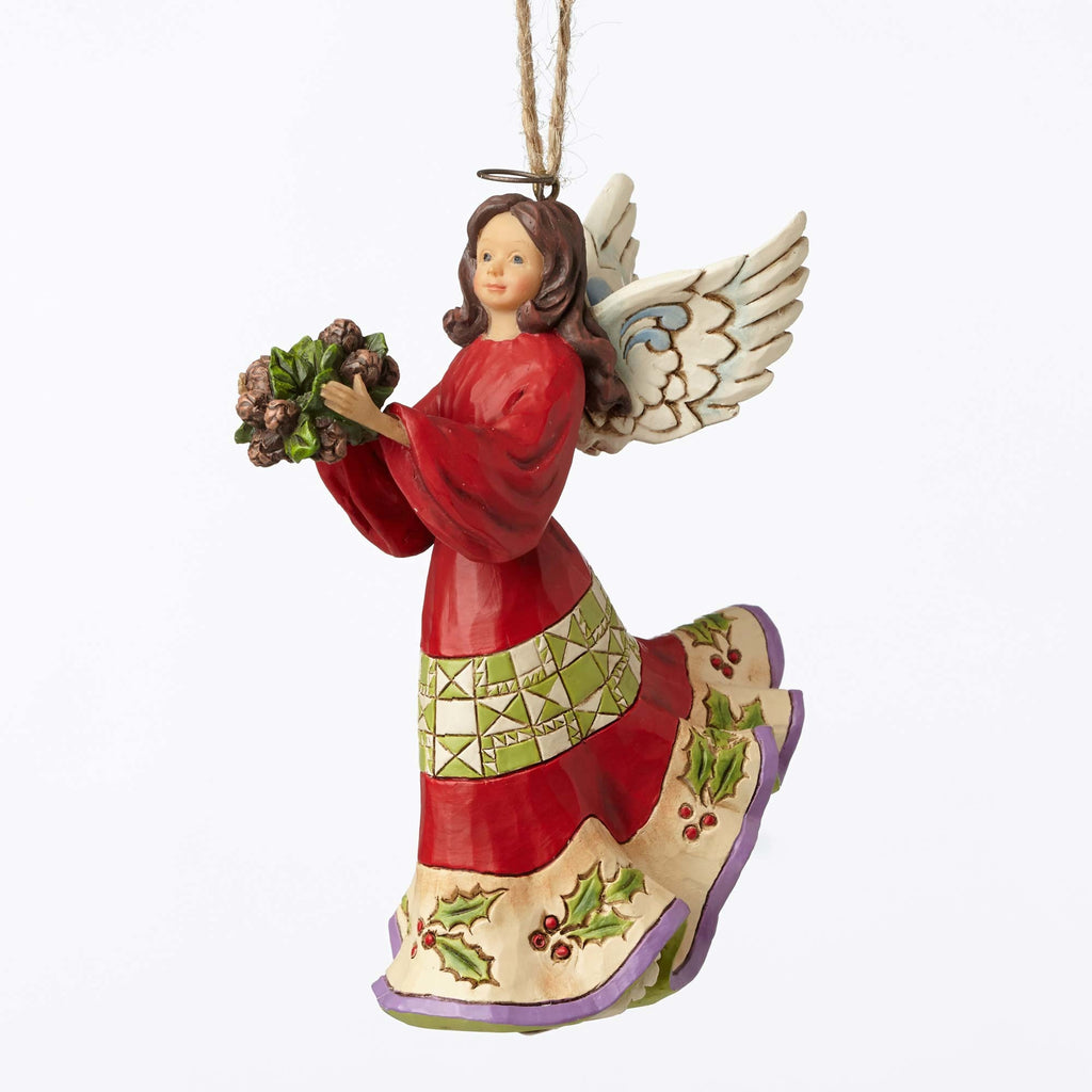Holly Angel Ornament Jim Shore Heartwood Creek