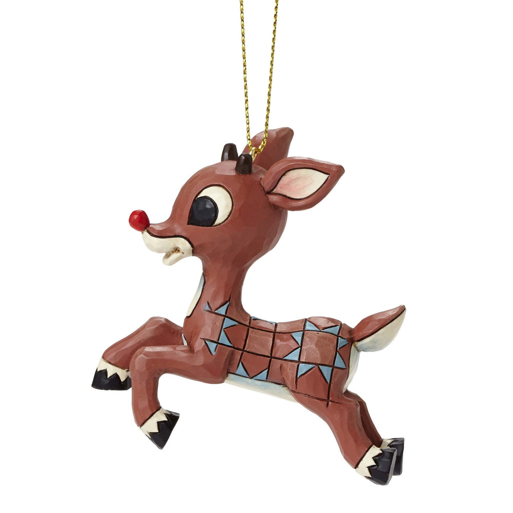 Rudolph Flying Ornament Rudolph Traditions by Jim Shore