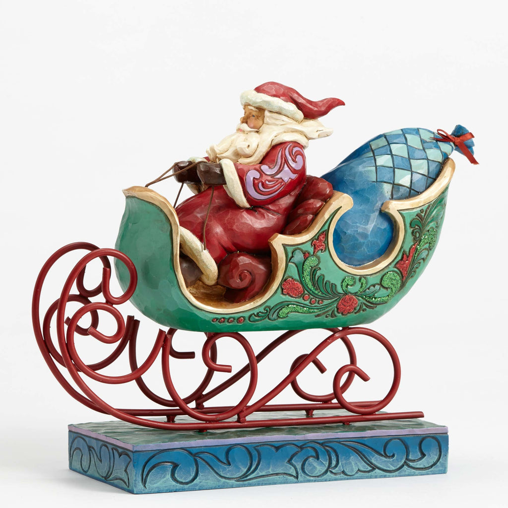 Wonderland Santa in Sleigh Jim Shore Heartwood Creek