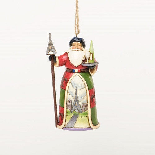 French Santa Ornament Jim Shore Heartwood Creek
