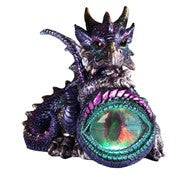 "Dragon Sitting on Eye with Color-changing LED Light, 4 1/2""W"