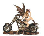 Cow Girl Fairy On Motorcycle