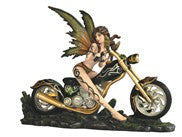 Earth Fairy On Motorcycle