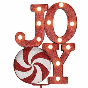 "Merry Marquee for Outdoors with Stake-""JOY"""
