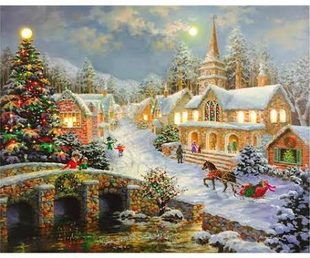 Christmas Scenes Images.Illuminart Assorted Christmas Scenes