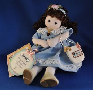 January Garnet Birth Month Musical Doll