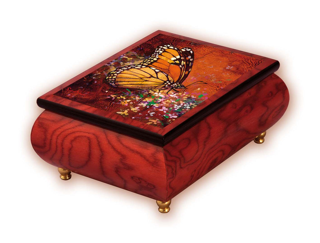 """Bless The Day"" Red Italian Inlaid Wood Music Box – Simon Bull"