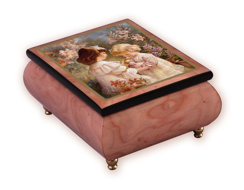 """A Gift Of Love""  Italian Inlaid Wood Music Box – Brenda Burke"
