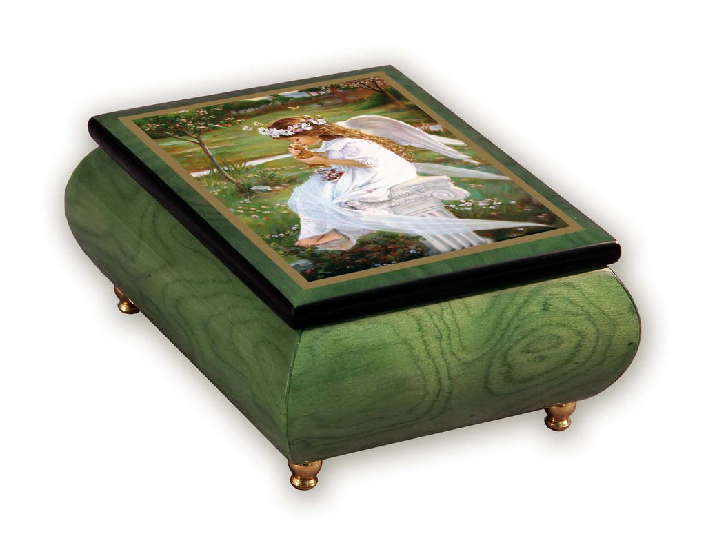"""Kitten Kisses"" Italian Inlaid Wood Music Box – Sandra Kuck"