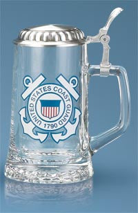 Coast Guard Glass Stein