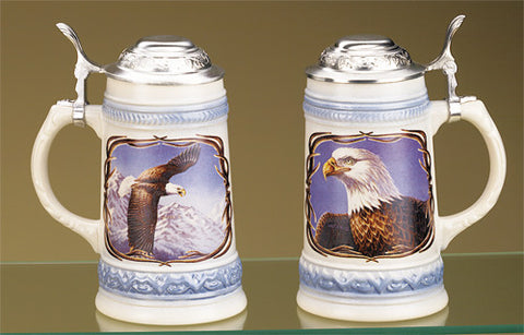 0.5L James Meger Bald Eagle I Stein