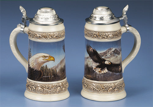 0.5L James Meger Bald Eagle II Stein