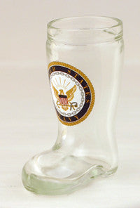 1.5 oz Navy Mini Boot Glass Shot