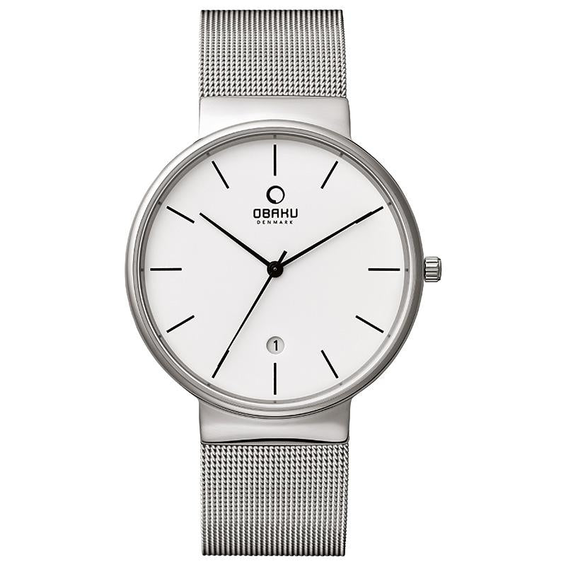 KLAR - STEEL Scandinavian Designed Watch By Obaku