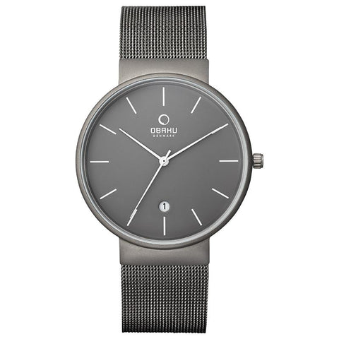 KLAR - TITANIUM Scandinavian Designed Watch By Obaku