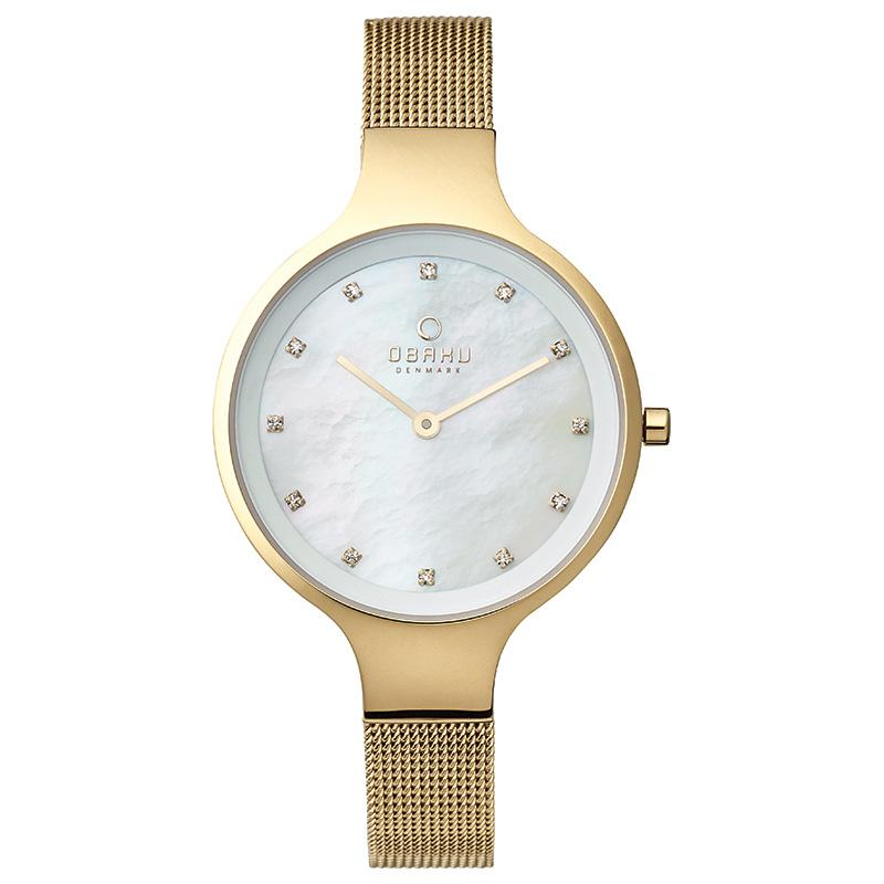 SKY - GOLD Scandinavian Designed Watch By Obaku