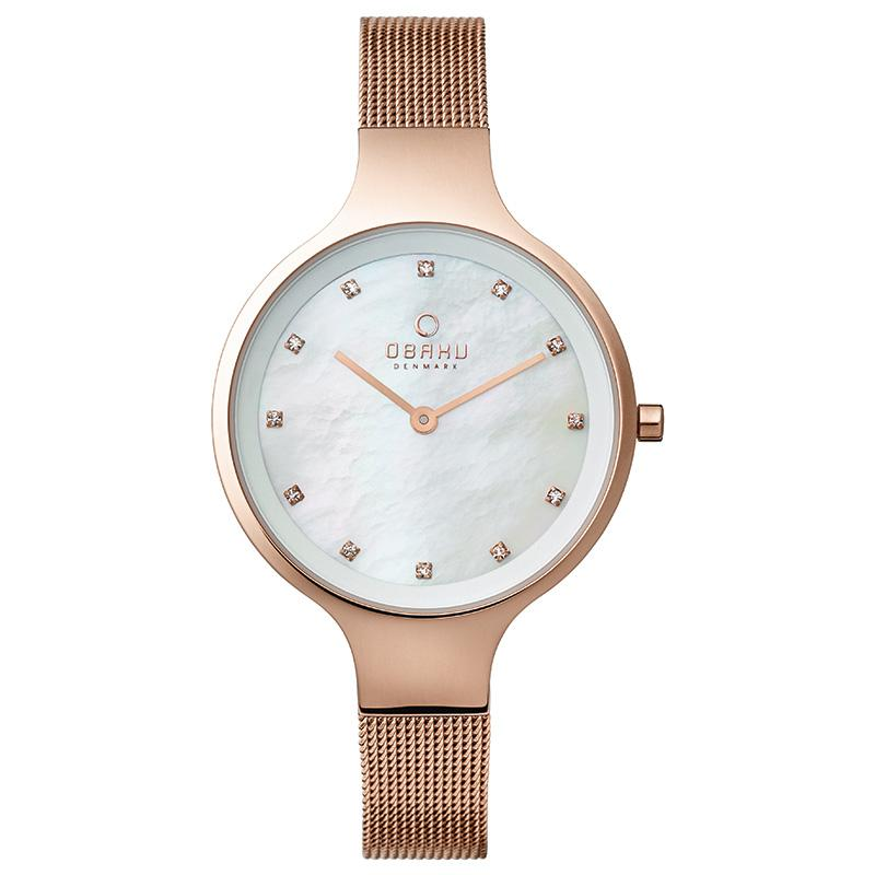 SKY - ROSE Scandinavian Designed Watch By Obaku
