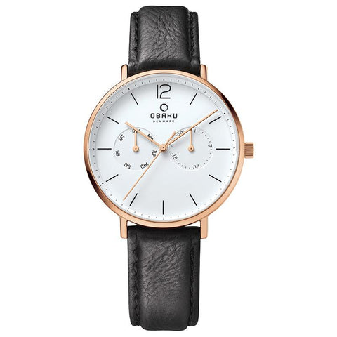 FLOD - COAL Scandinavian Designed Watch By Obaku