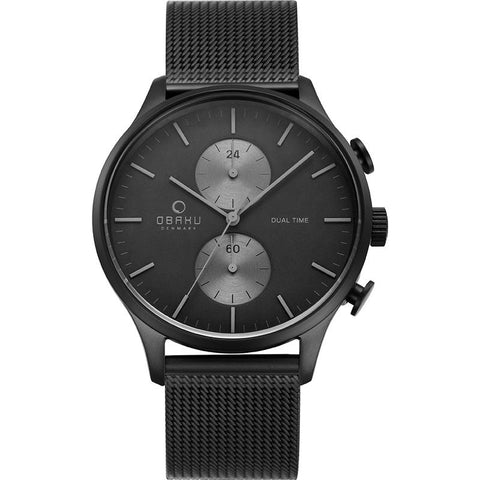 GRAN - CHARCOAL Scandinavian Designed Watch By Obaku