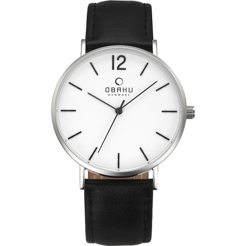 MARK - BLACK Scandinavian Designed Watch By Obaku