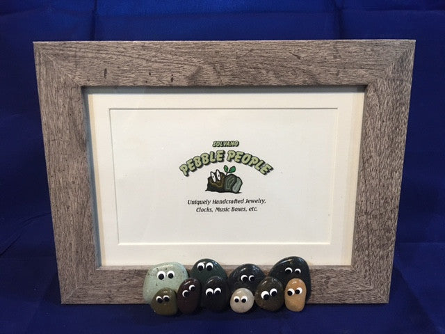 Pebble People - Picture Frame (Gray)