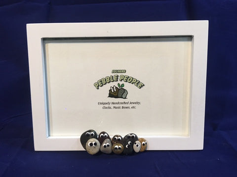 Pebble People - Picture Frame (White)