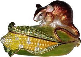 Field Mouse On Corn