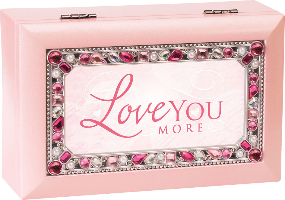 Love You More Jeweled Wooden Music Box