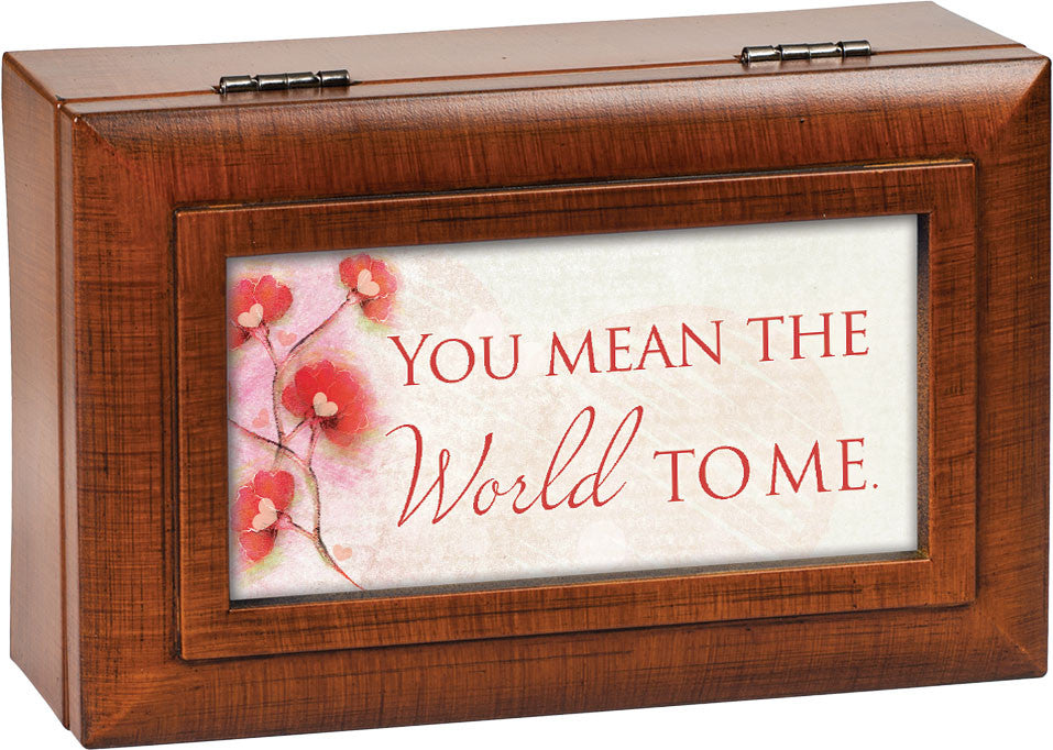 You Mean The World Dual Framed Wooden Music Box