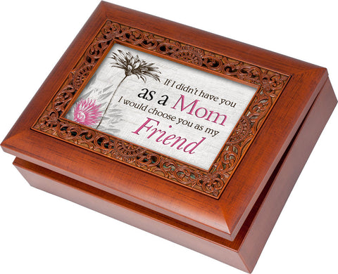 Have You As A Mom Decorative Scroll Wooden Music Box