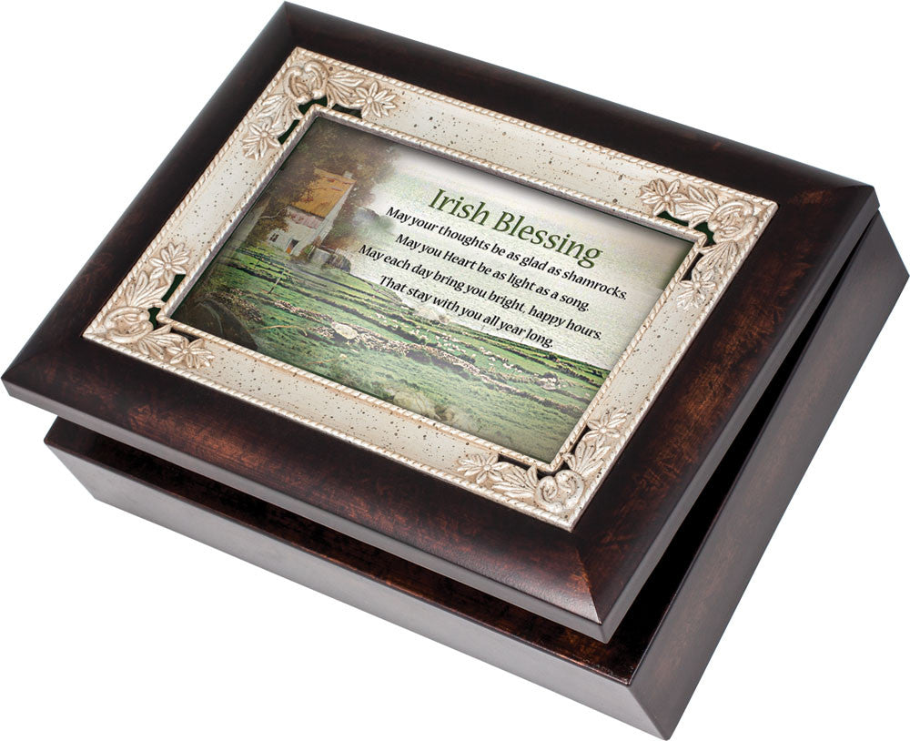 Irish Blessing Wooden Music Box